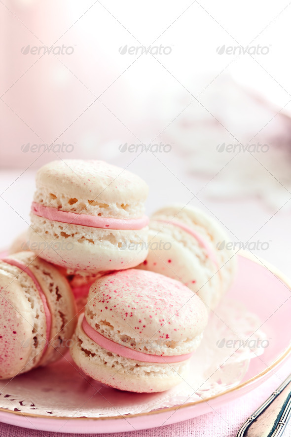Strawberry macarons - Stock Photo - Images