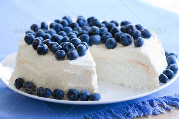 Angel food cake - Stock Photo - Images