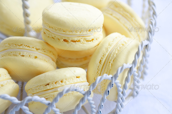 Lemon macarons - Stock Photo - Images