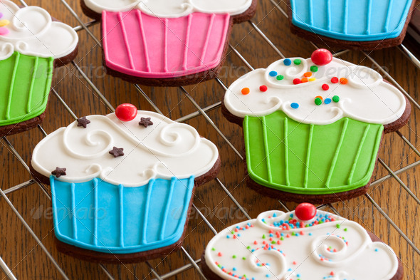 Cupcake cookies - Stock Photo - Images