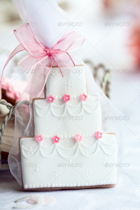 Wedding cake favor - Stock Photo - Images