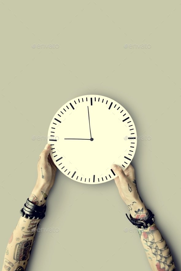 Tattoo Time Schedule Duration Punctual Second Concept - Stock Photo - Images