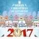 Christmas Postcard with Vintage Street - GraphicRiver Item for Sale