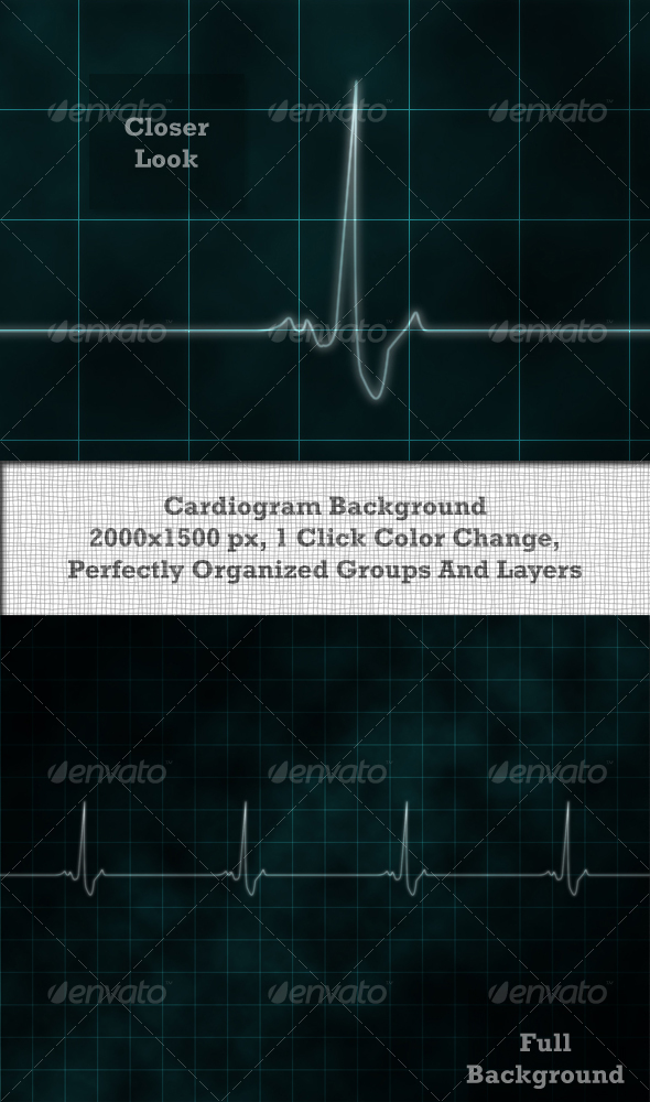 Cardiogram Background - Miscellaneous Backgrounds