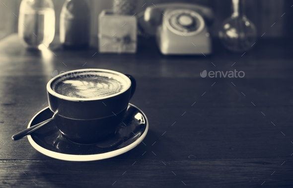 Coffee Beverage Cafe Relaxing Cappuccino Latte Concept - Stock Photo - Images