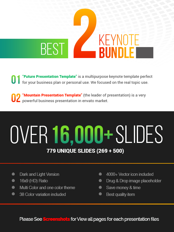 Keynote Presentation Template Bundle V By Contestdesign
