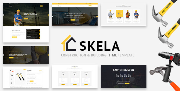Skela - Construction & Building HTML Template - Business Corporate