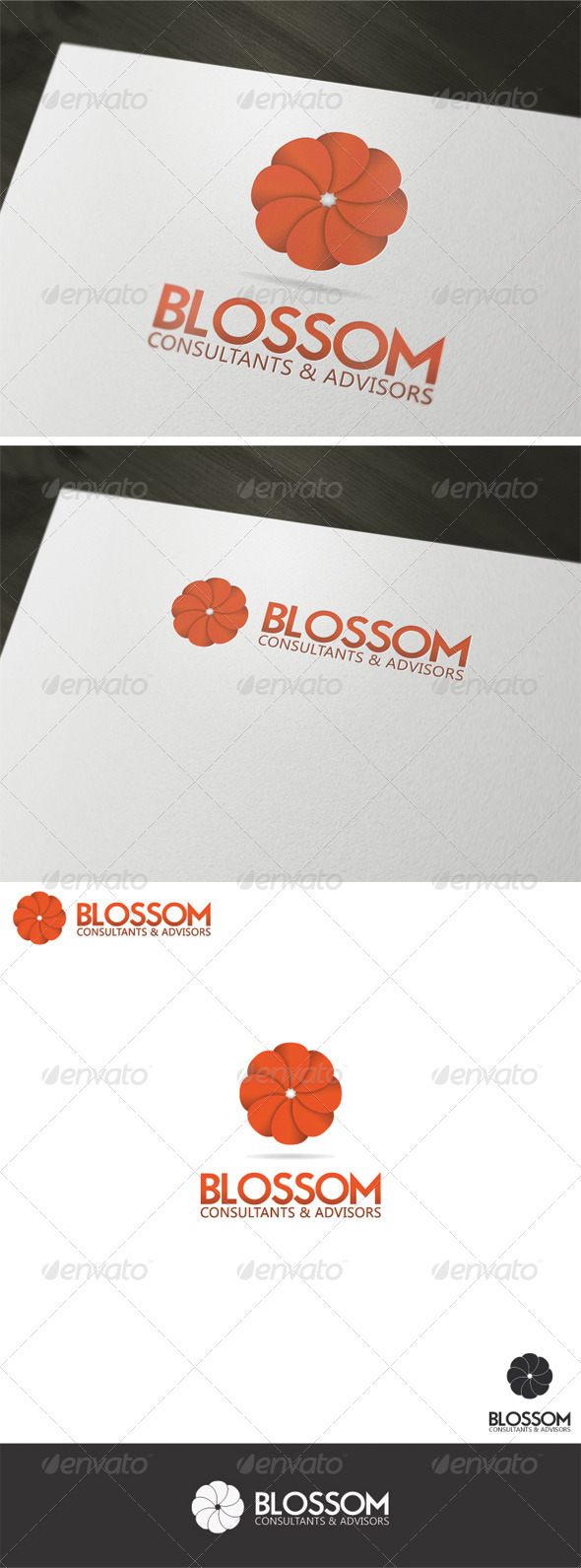 Blossom Logo Template - Vector Abstract