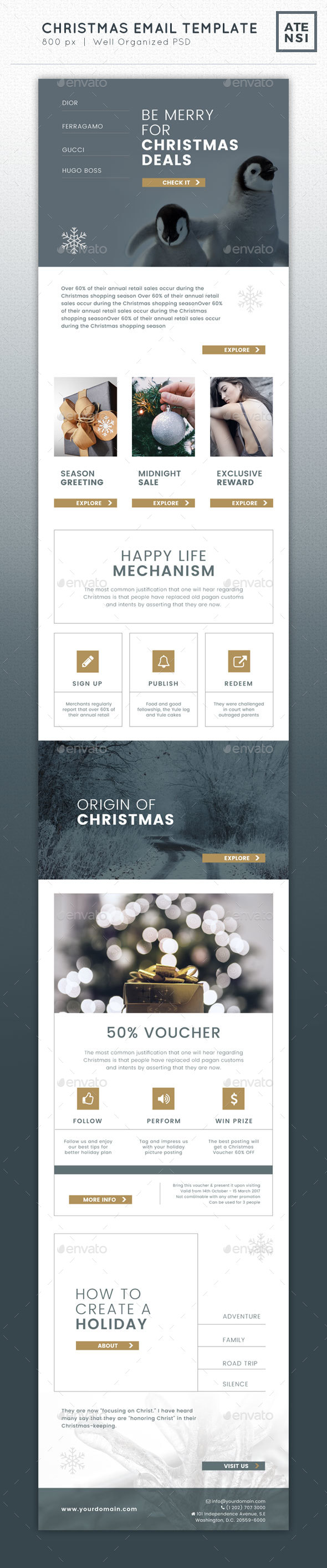 Christmas Email Template - E-newsletters Web Elements