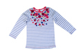 Children's striped sweater with long sleeves.