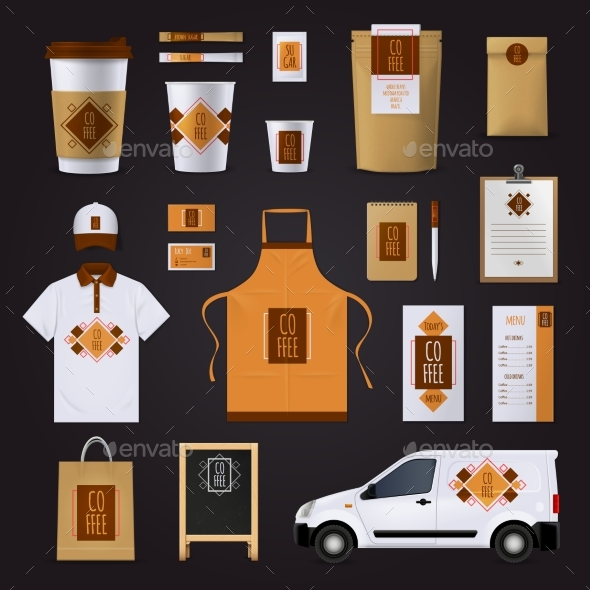 Coffee Corporate Identity Design Set - Concepts Business