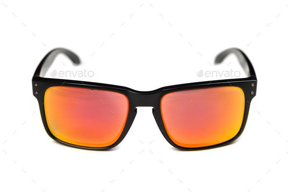 sunglasses, ruby iridium - Stock Photo - Images