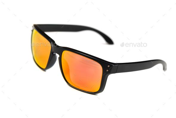 Sunglasses, frame Holbrook, Ruby Iridium lens. - Stock Photo - Images