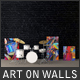 Art On Walls Mockup - Canvas Mockups - Frame Mockups - Wall Mockups Vol 8 - GraphicRiver Item for Sale