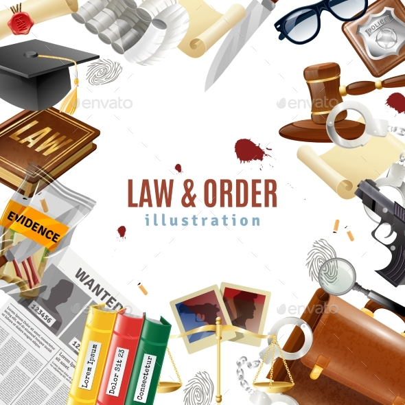 Law and Order Frame Composition Poster - Backgrounds Decorative