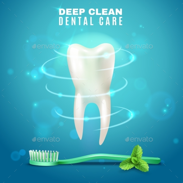 Deep Cleaning Dental Care Background Poster - Health/Medicine Conceptual