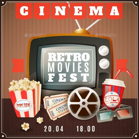 Cinema Retro Movies Festival Announcement Poster - Media Technology