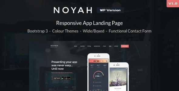 Noyah – App Landing WordPress Theme