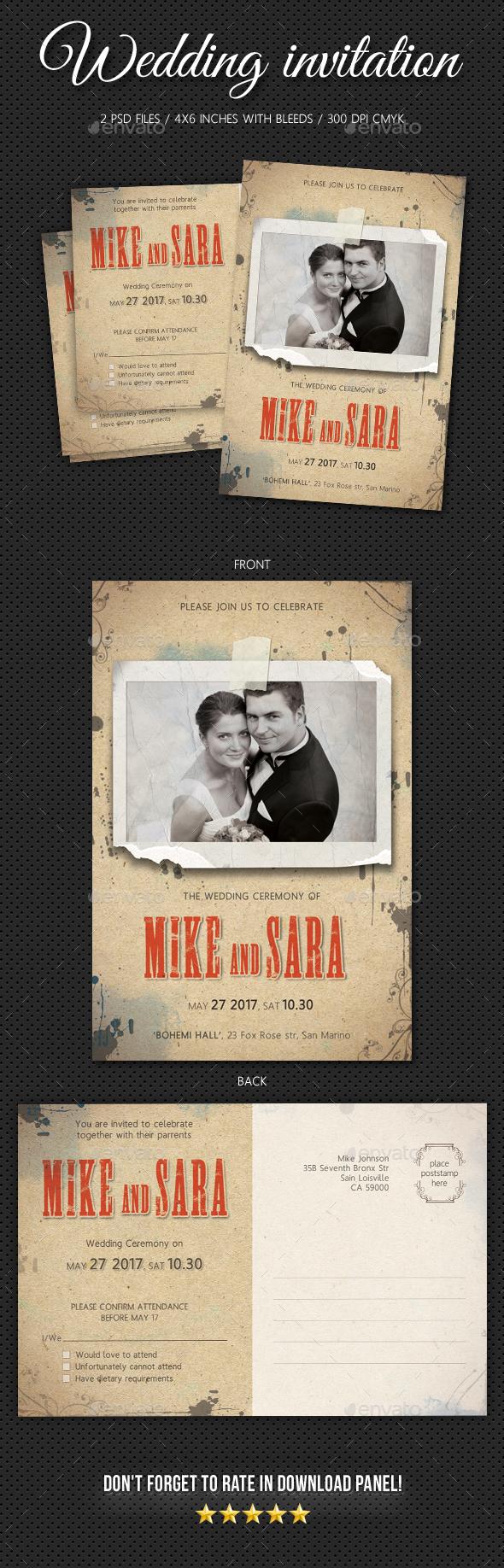 Wedding Invitation V6 - Weddings Cards & Invites