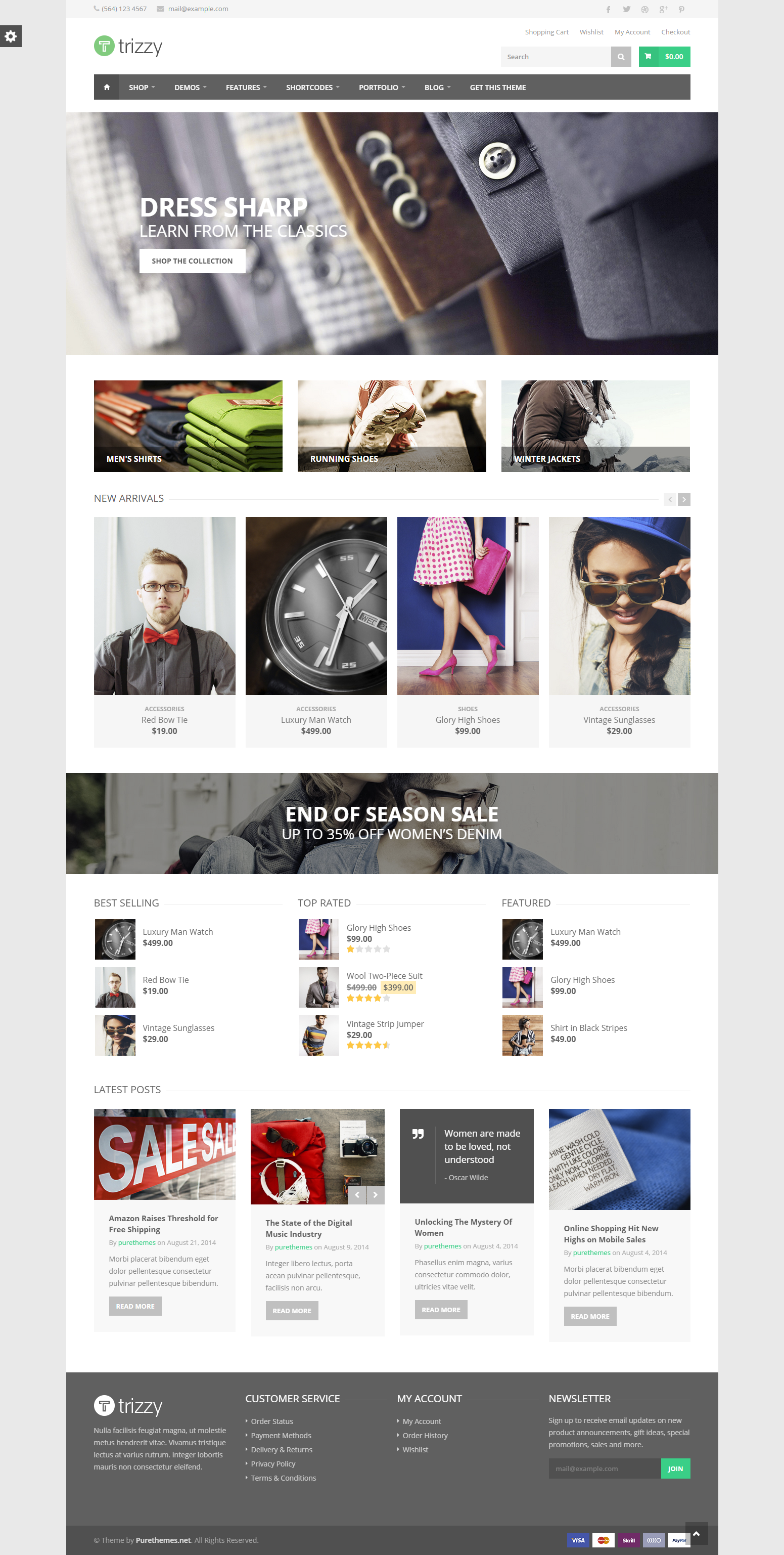 Trizzy Multi Purpose Woocommerce Wordpress Theme By Purethemes