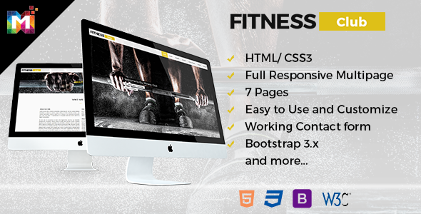 Fitness - HTML Responsive Multipurpose Template