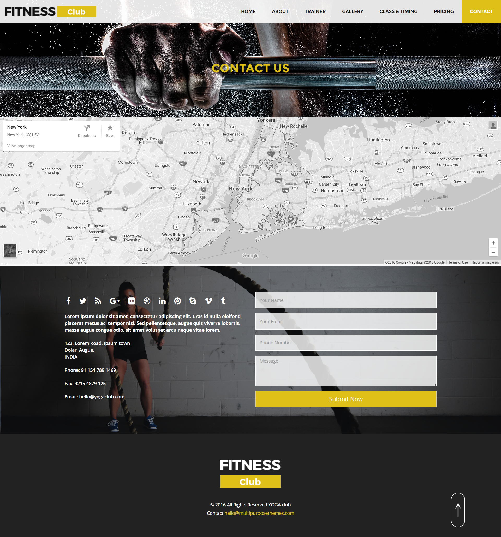 Fitness - HTML Responsive Multipurpose Template by multipurposethemes