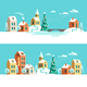 Christmas Winter Town - GraphicRiver Item for Sale
