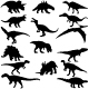 Dinosaurs Silhouettes - GraphicRiver Item for Sale