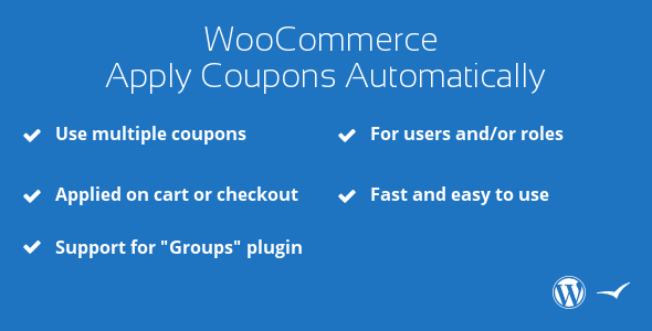 WooCommerce Apply Coupons Automatically - CodeCanyon Item for Sale