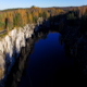 Aerial Flight over Marble Canyon  in Cold Sunny Day - VideoHive Item for Sale