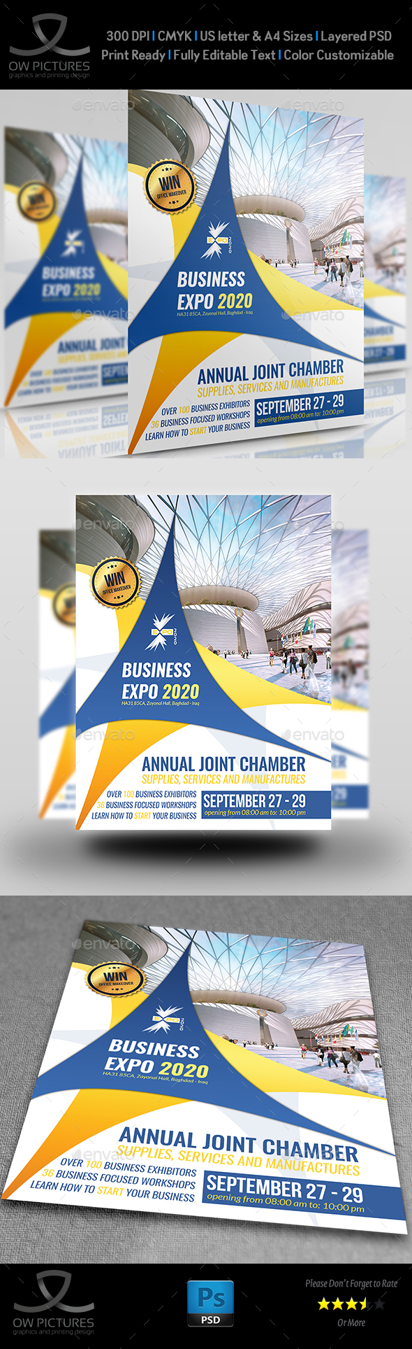Business Expo Flyer Template - Flyers Print Templates