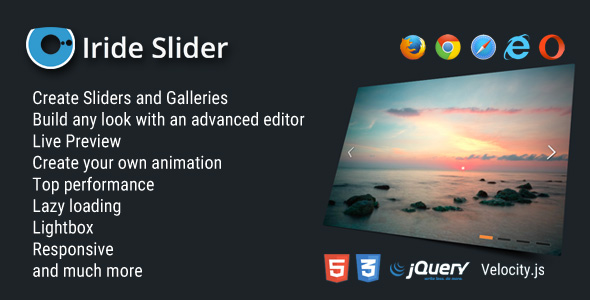 Iride Slider - WordPess Image Slider / Gallery - CodeCanyon Item for Sale