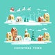 Christmas Greeting Card Winter Town - GraphicRiver Item for Sale