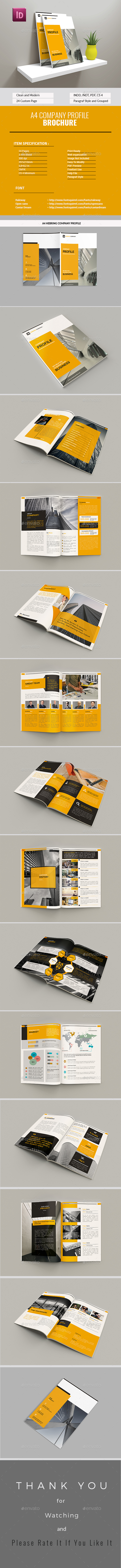 A4 Company Profile - Corporate Brochures