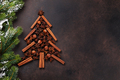 Anise and cinnamon spices christmas tree