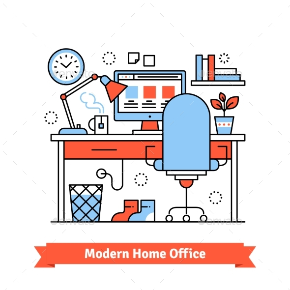 Modern Home Office - Concepts Business