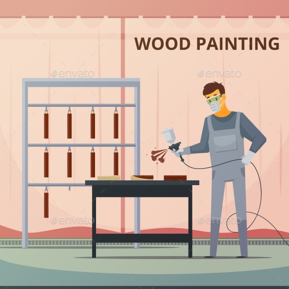 Professional Woodwork Painting  Flat Poster - Miscellaneous Conceptual