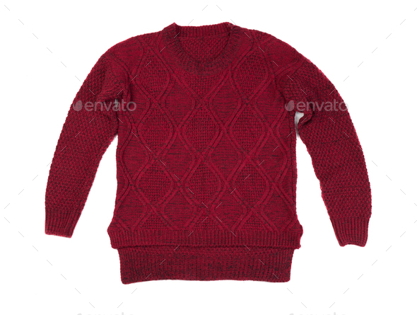 Red knitted sweater - Stock Photo - Images