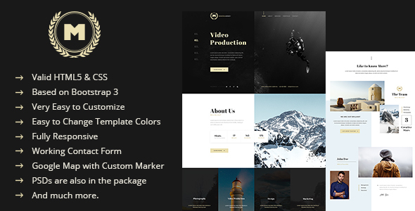 Minicon - Minimal HTML Template - Creative Site Templates