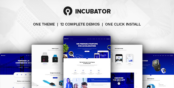 Incubator - WordPress Startup Business Theme - Technology WordPress
