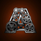 Loop Metal Alphabet with Gears Mechanic - VideoHive Item for Sale