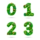 Fir Tree Font Numbers - GraphicRiver Item for Sale