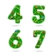 Fir Tree Font Numbers. - GraphicRiver Item for Sale