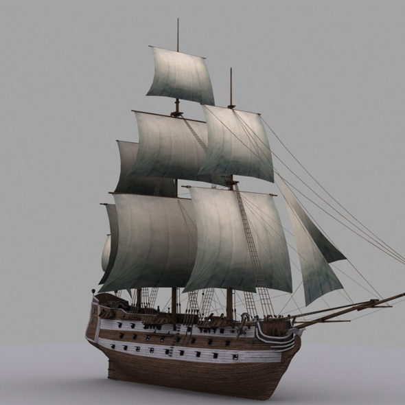 Frigate - 3DOcean Item for Sale