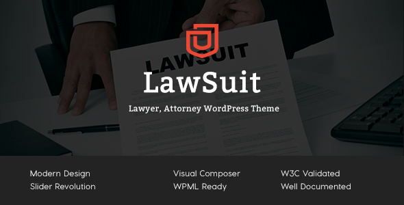 LawSuit – Lawyer, Attorney, Law Agency WordPress Theme