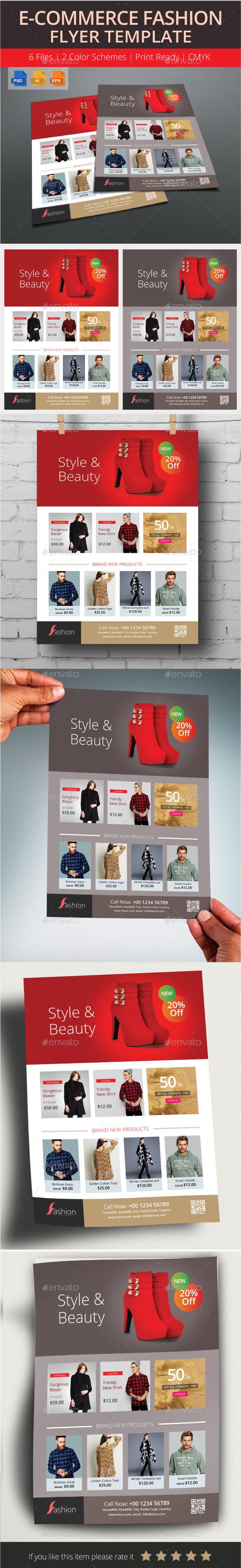 E-Commerce Fashion Flyer Template - Commerce Flyers