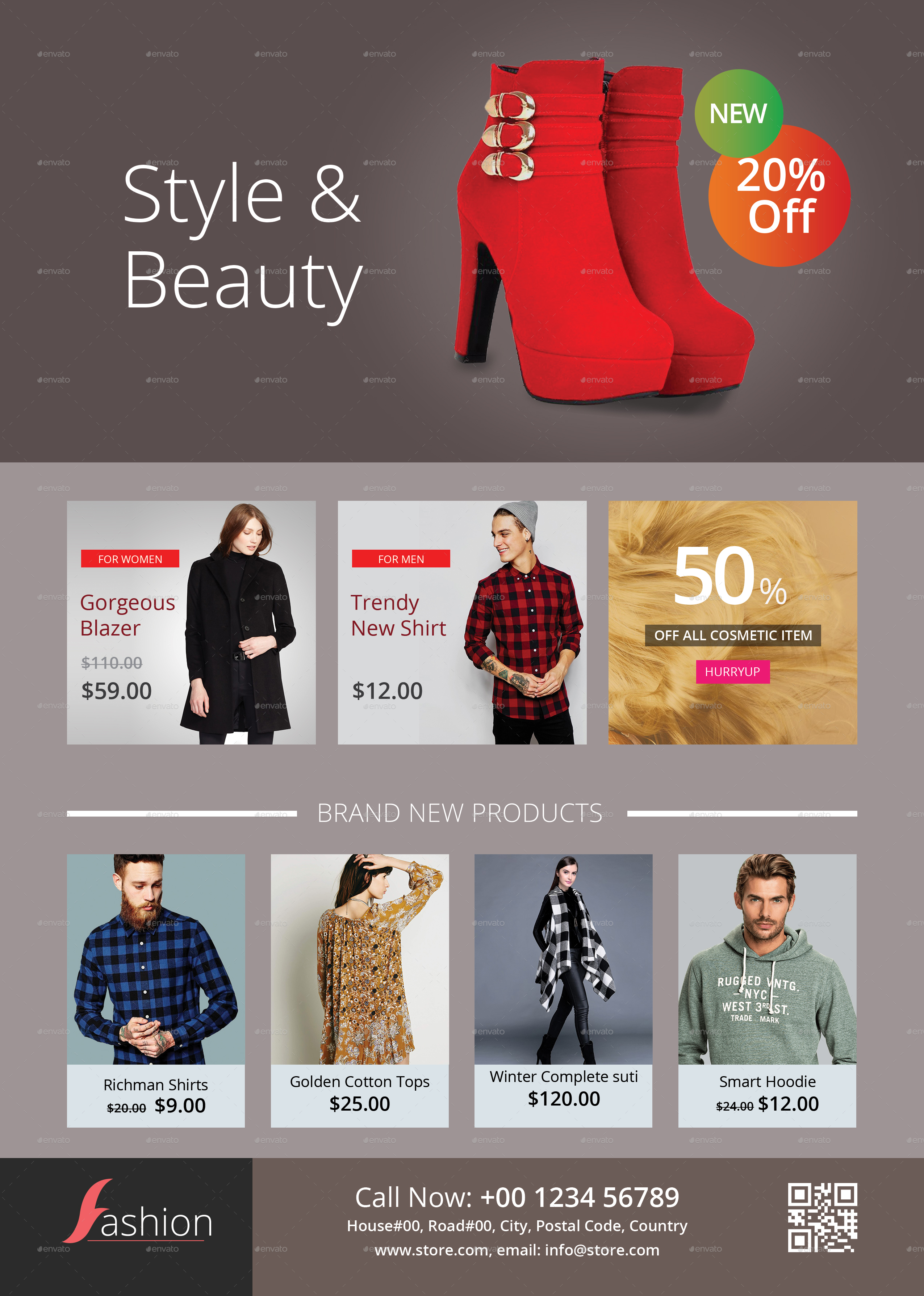 E Commerce Fashion Flyer Template By Ideaz13 Graphicriver