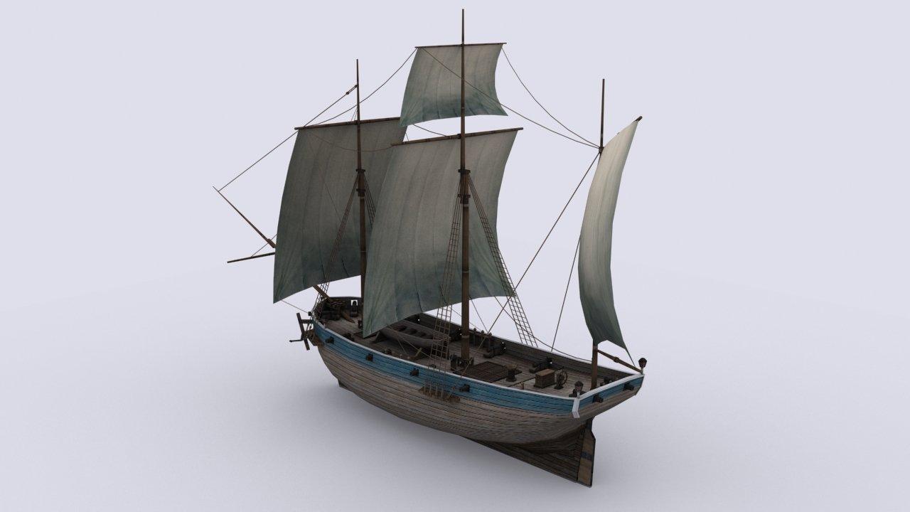 Small Sailing Ship By Sobul 3docean