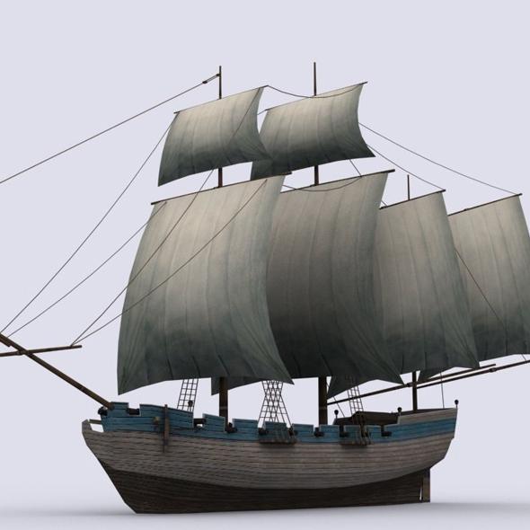 Schooner - 3DOcean Item for Sale