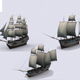 Three sailing ship - 3DOcean Item for Sale